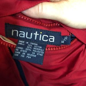 Nautica Jackets & Coats - VTG Nautica  Reversible Spell Out Fleece Lined XL